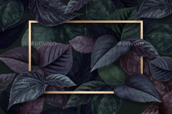 Forest leaf frame - Stock Photo - Images