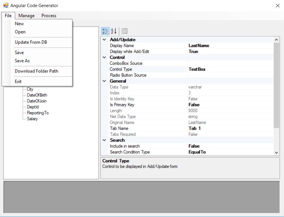 Angular Code Generator Tool