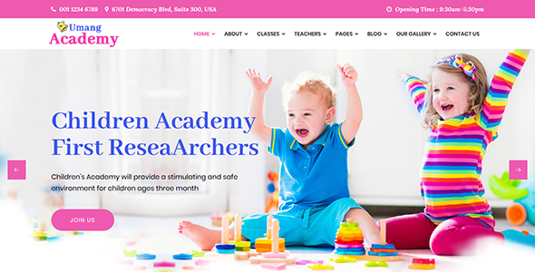 Umang Academy : Kindergarden, Kids Play School Template
