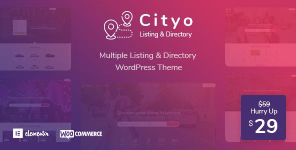Cityo - Multiple Listing Directory WordPress Theme