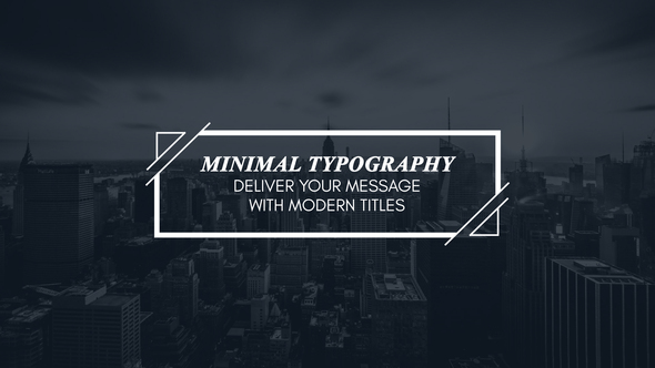 Minimal Motion Typography | for Premiere Pro