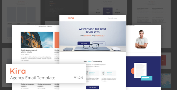 KIRA - Agency Email Template by ExoticThemes