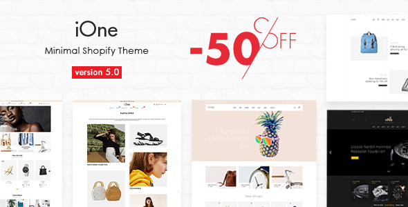 iOne - Drag & Drop Minimal Responsive Shopify Theme