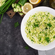 Healthy salad. Spring vegan salad with cabbage, cucumber, green onion  - PhotoDune Item for Sale