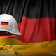 White hard hat laying over Germany flag. Construction and employ - PhotoDune Item for Sale