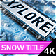 Winter Snow Logo Title - VideoHive Item for Sale
