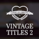 Vintage Romantic Wedding Titles Pack - VideoHive Item for Sale
