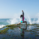 Powerful woman yoga on seaside - PhotoDune Item for Sale