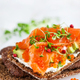 Salted salmon, red caviar, avocado and cream cheese rye crisp to - PhotoDune Item for Sale