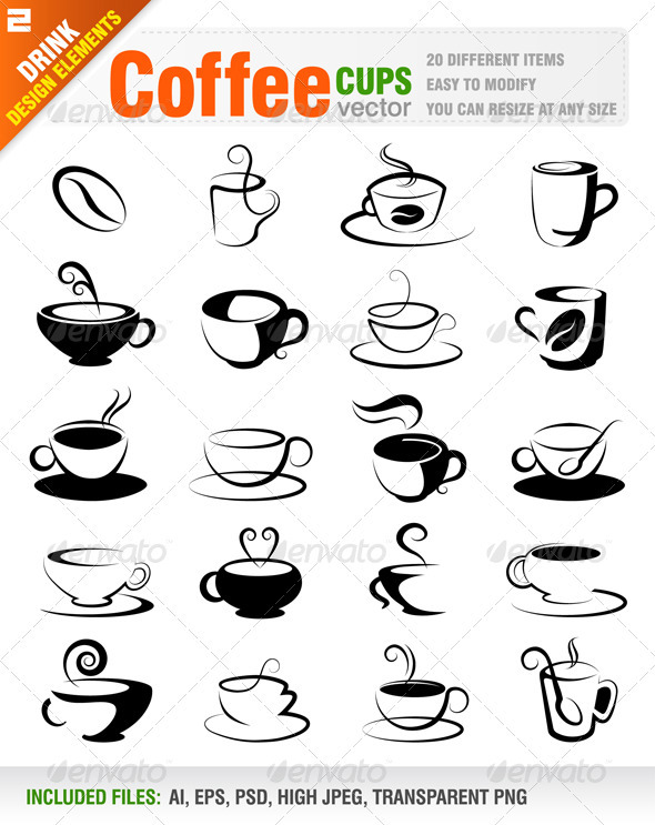 Coffee Design Elements - Decorative Symbols Decorative