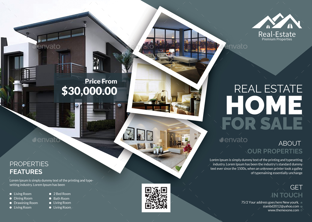 real estate flyer by themexone