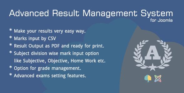 Advanced Result Management System for Joomla