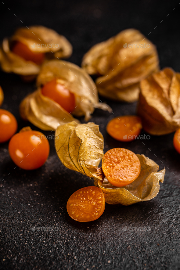 Physalis fruit with husk - Stock Photo - Images