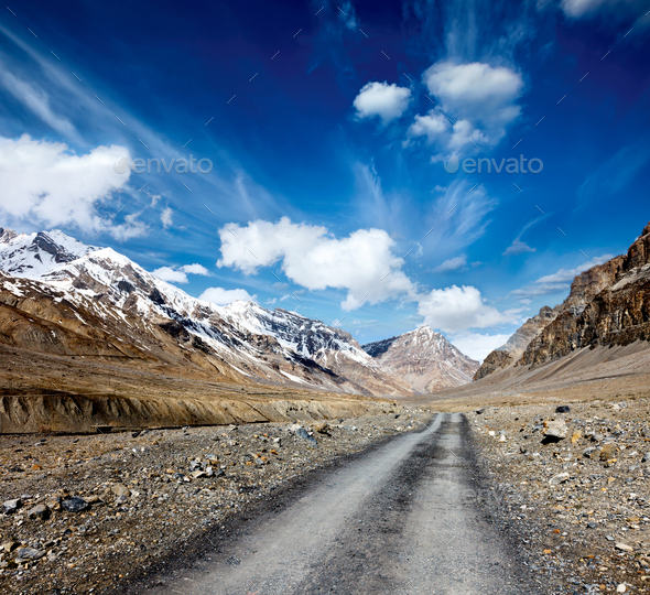 Road in Himalayas - Stock Photo - Images