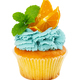 Cupcake with fresh mint and slices of orange - PhotoDune Item for Sale