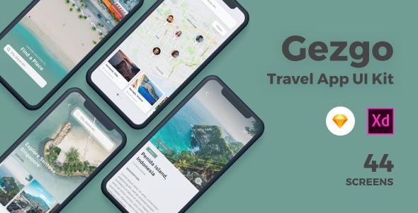Gezgo Travel App UI Kit