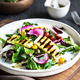 Grilled Halloumi on fresh salad  with Orange Vinaigrette - PhotoDune Item for Sale