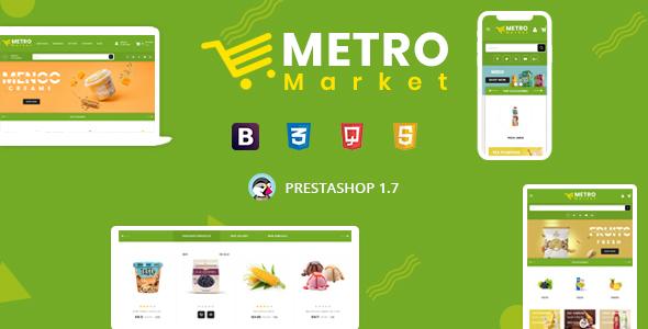 Metro Market - Organic & Grocery Store Prestashop 1.7 Responsive Theme
