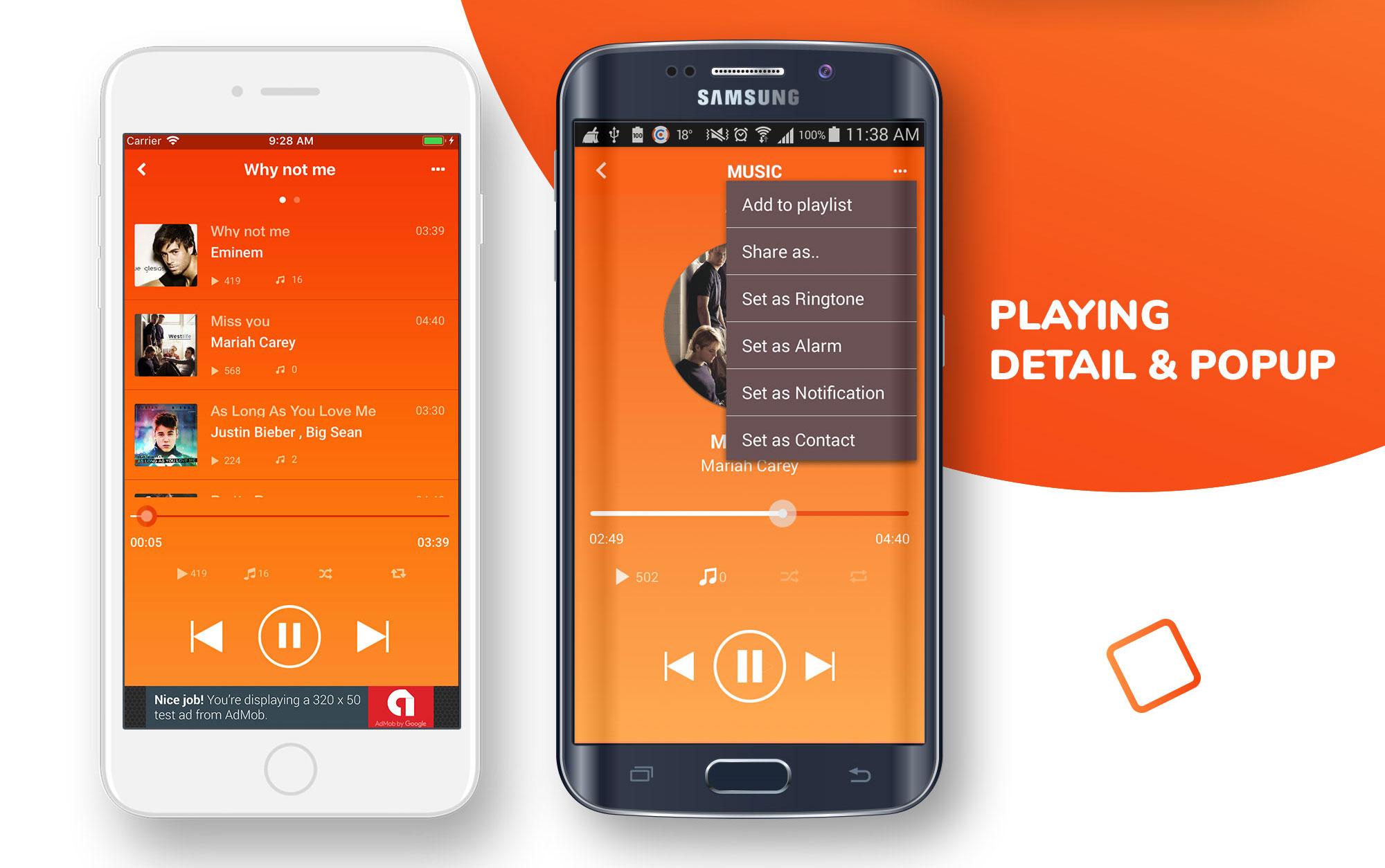 Music App with Soundcloud Look - iOS App