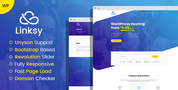 Linksy - domain and hosting provider WordPress theme