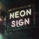 Neon Sign Street Lights - VideoHive Item for Sale
