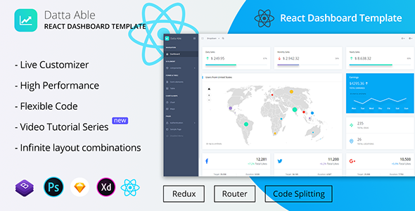 Datta Able React Redux Admin Template | Bootstrap4