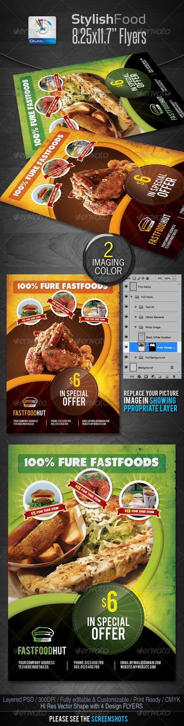 Stylish Foods Flyers - Restaurant Flyers