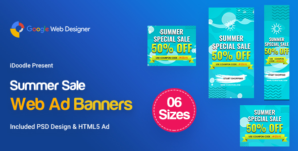 C15 - Summer Sales Banners GWD & PSD