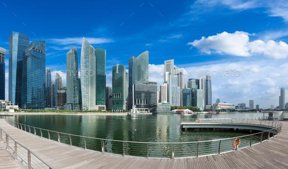 Singapore skyline panorama - Stock Photo - Images
