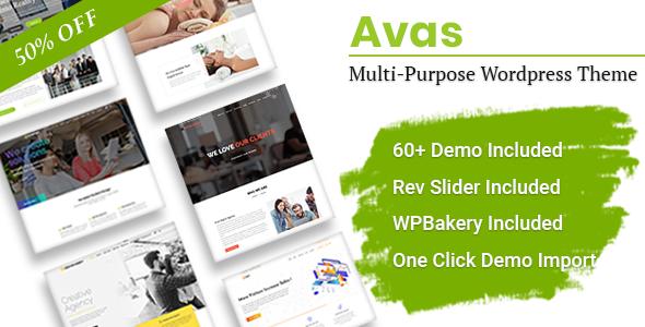 Avas | Multi-Purpose Elementor WordPress Theme