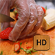 Young man Cutting Strawberries - VideoHive Item for Sale