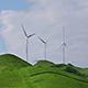 Group of Wind Turbines on Spring Field - VideoHive Item for Sale