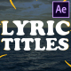 2d Lyric Titles | After Effects Template - VideoHive Item for Sale