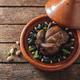 Morocacn food, tajine of chicken and prunes, copy space - PhotoDune Item for Sale