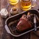 Honey glazed pork knuckle with beer. copy space - PhotoDune Item for Sale
