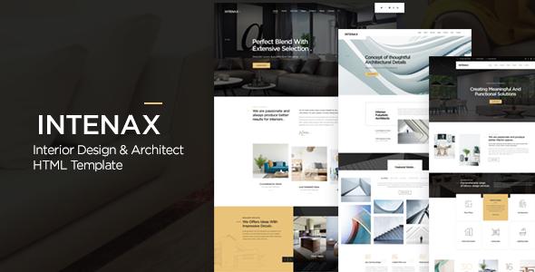 Intenax - Architecture & Interior Design HTML Template
