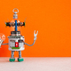 Fantastic robot handyman with light bulb. Fixing maintenance concept. - PhotoDune Item for Sale