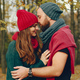 Elegant couple spend time in a autumn park - PhotoDune Item for Sale