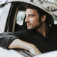 Handsome man in a car - PhotoDune Item for Sale