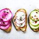 Radishes,Spring Onion and Hummus on Herby French Sourdough - PhotoDune Item for Sale