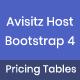 Free Download Avisitz Host - Bootstrap 4 Pricing Tables Nulled