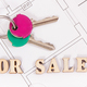 Home keys with inscription for sale on housing plan, concept of selling or buying house - PhotoDune Item for Sale