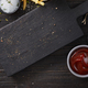 black wooden cutting board - PhotoDune Item for Sale