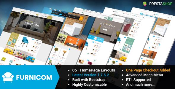 Furnicom - Responsive PrestaShop 1.6 and 1.7 Furniture Theme