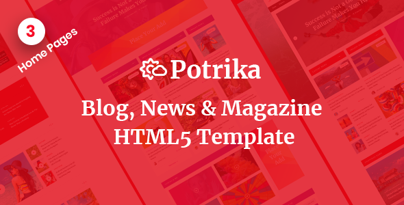 Potrika - Blog, News & Magazine HTML5 Template