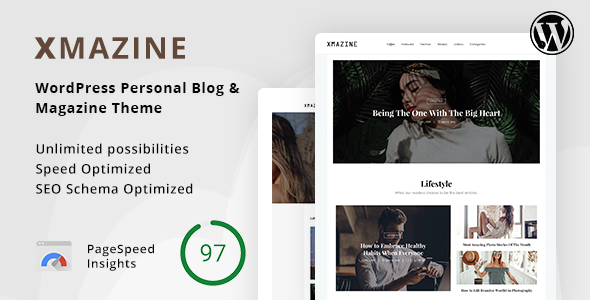 Xmazine - WordPress Personal Blog & Magazine Theme