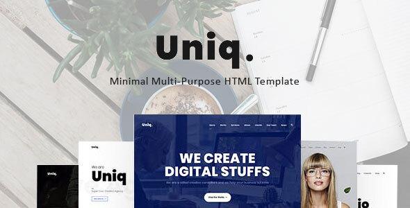 Excellent Uniq - Minimal Multipurpose Creative HTML Template