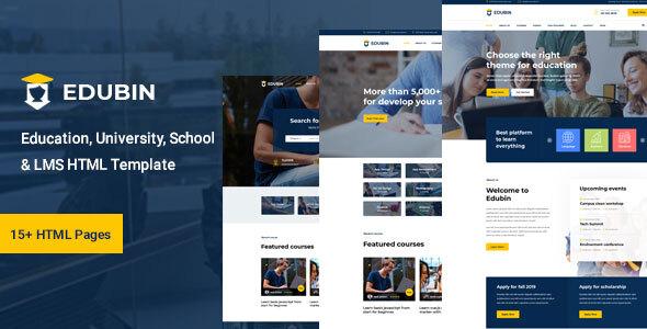 Edubin - Education HTML Template