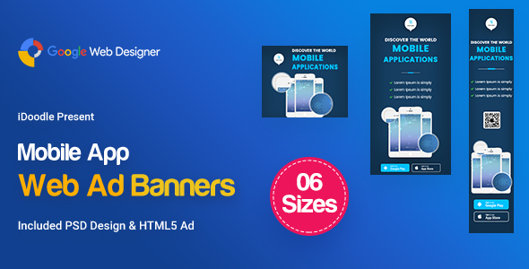 C21 - Mobile App Banners HTML5 Ad - GWD & PSD