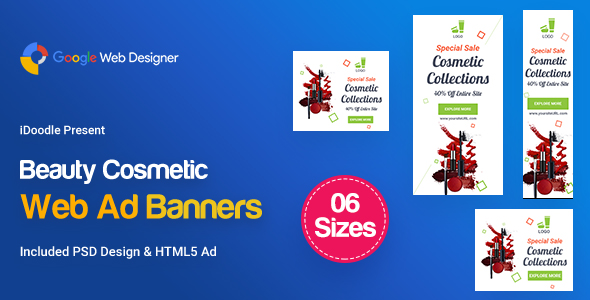 C24 - Cosmetic Banners HTML5 - GWD & PSD